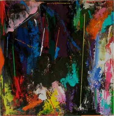 Emyr Williams, Rasio, 2013, 91.5 × 91.5cm, acrylic on canvas (courtesy of the ar