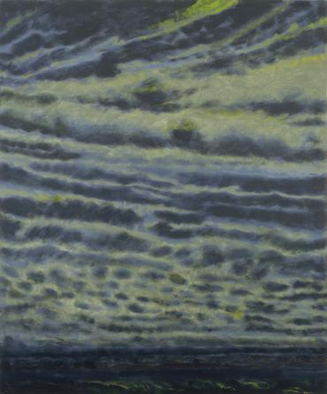 Jane Wilson, Black Wind, 2000, oil on linen, 84 x 70 inches (courtesy of DC Moor