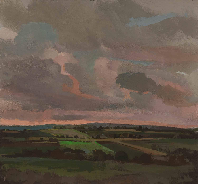 Elizabeth Wilson, Turbulence II, gouache and watercolor on paper, 8.75 x 9.5, 20