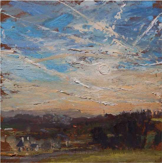 John David Wissler, Sending, 12×12, oil on panel (courtesy of the artist)