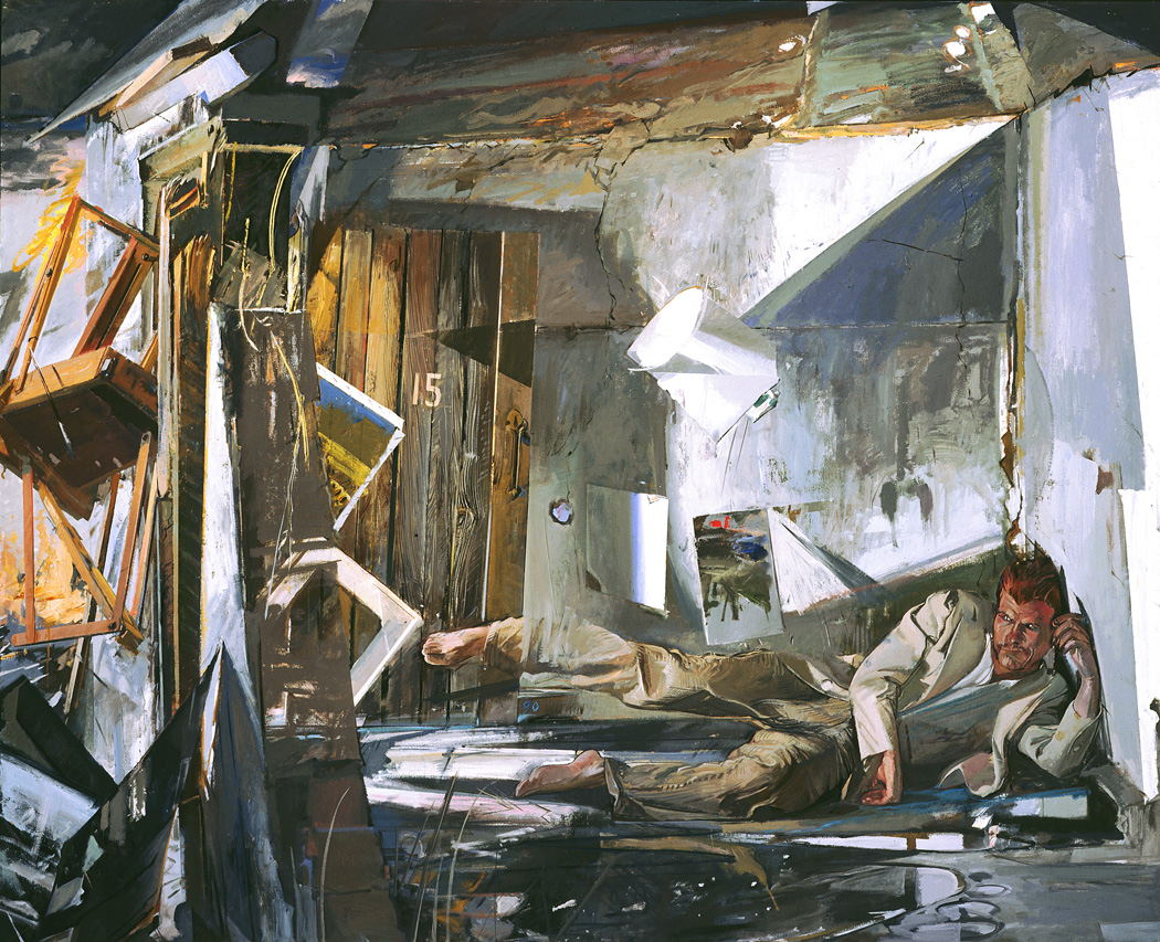 Jerome Witkin, An Artist In A Ruin, 1990, oil on canvas, 71 x 88 inches (courtes