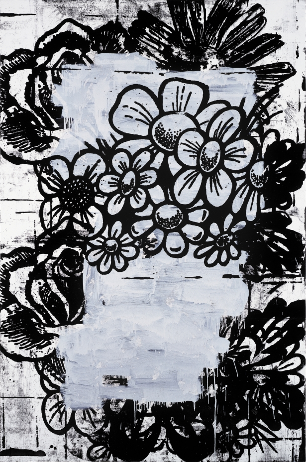 Christopher Wool, Untitled, 1994, enamel on aluminum, 91.4 x 61 cm (Private coll