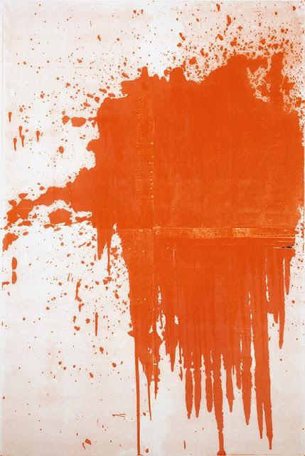 Chrisotpher Wool, Minor Mishap, 2001, silkscreen ink on linen, 274.3 x 182.9 cm