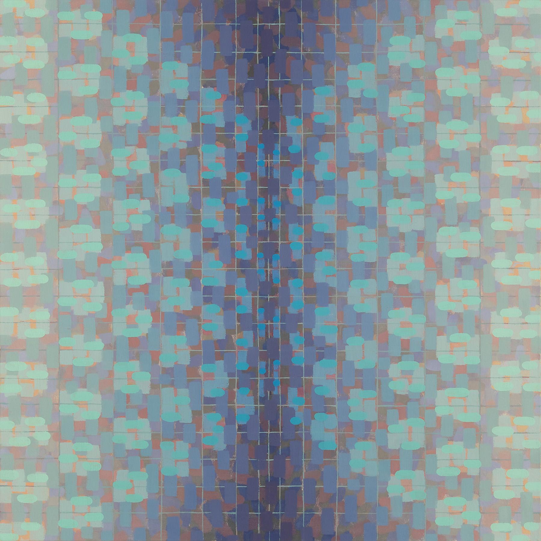 Rachael Wren, Blue Yonder, 2013, oil on linen, 20 x 20 inches (courtesy of Garis