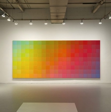 Installation view: Sanford Wurmfeld: Color Visions 1966 – 2013 at Hunter College