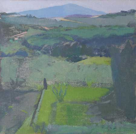 Yael Scalia, View over the Certosa Garden, Toscana