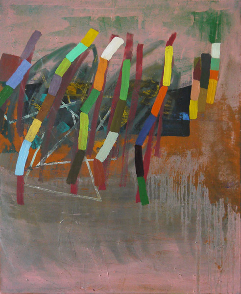 Becky Yazdan, Ticker Tape, oil on canvas, 30 x 24 inches, 2012 (courtesy of Giam