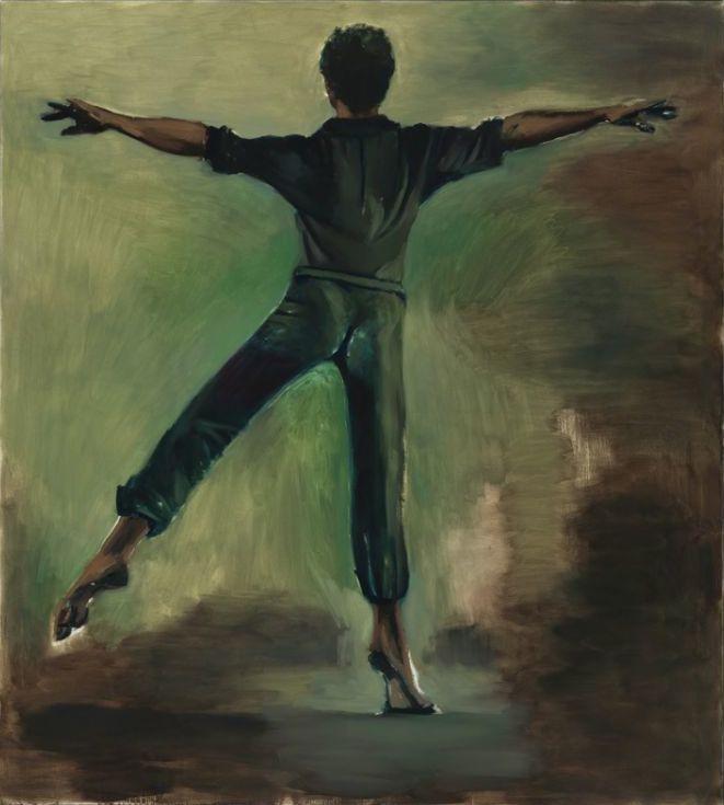 Lynette Yiadom-Boakye, Interstellar, 2012, oil on canvas, 78 3/4 x 71 inches (Ja