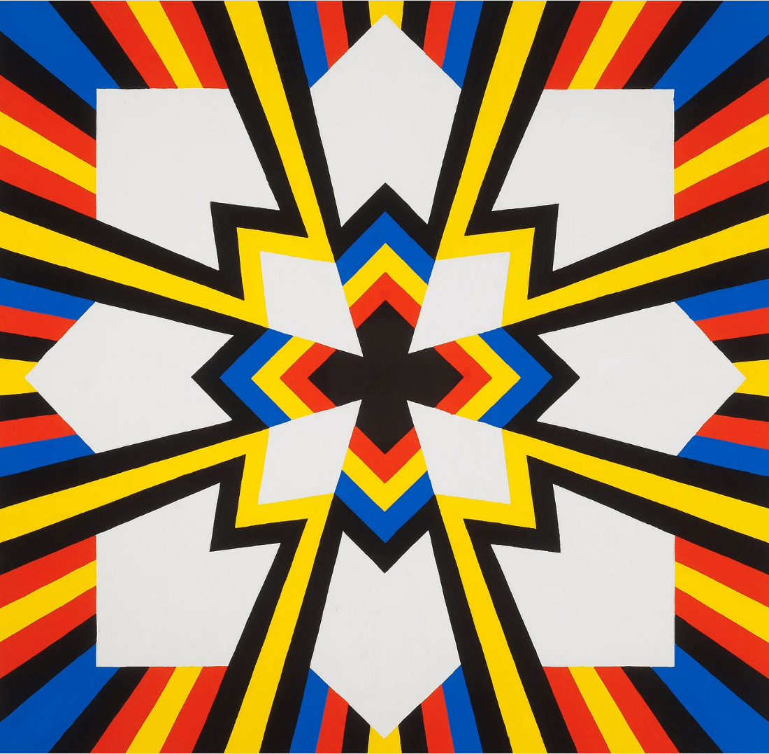 Jack Youngerman, Into Black, 2015, oil on Baltic birch plywood, 30 x 30 inches (courtesy of the artist)