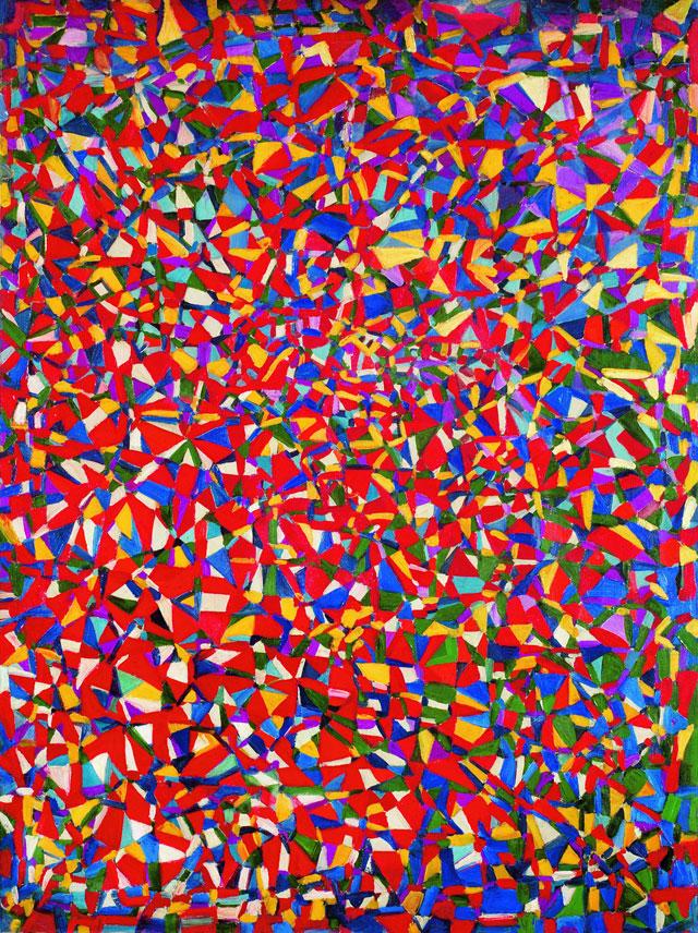 Fahrelnissa Zeid, Resolved Problems, 1948, oil paint on canvas, 130 x 97 cm (Istanbul Museum of Modern Art Collection, Eczacıbaşı Group Donation (Istanbul, Turkey) © Raad Zeid Al-Hussein © Istanbul Museum of Modern Art)