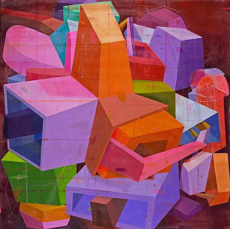 Deborah Zlotsky, The Inundation, 2014, 48 x 48 inches, oil on canvas (Kathryn Ma