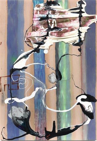 Molly Zuckerman-Hartung, oa, 2013, oil, latex, enamel and spray paint on cut lin
