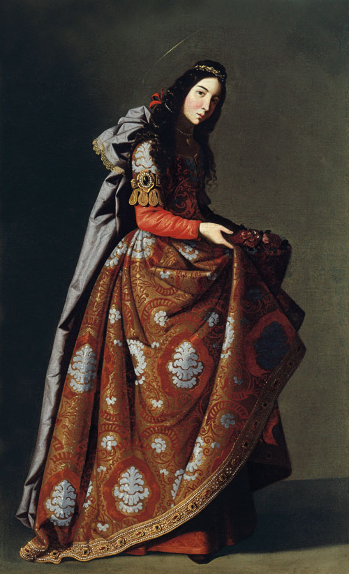 Francisco de Zurbarán, Saint Casilda, ca. 1635, oil on canvas, 171 x 107 cm (Mus