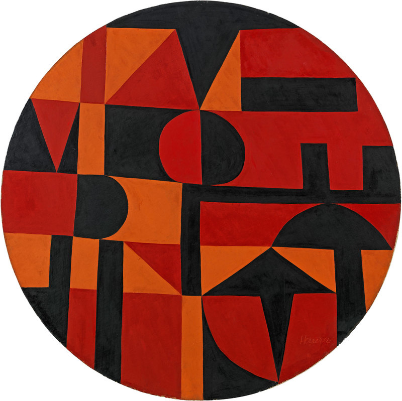 Carmen Herrera, Iberic, 1949, acrylic on canvas on board, diameter: 40 inches (101.6 cm) (courtesy of the artist and Lisson Gallery. © Carmen Herrera)
