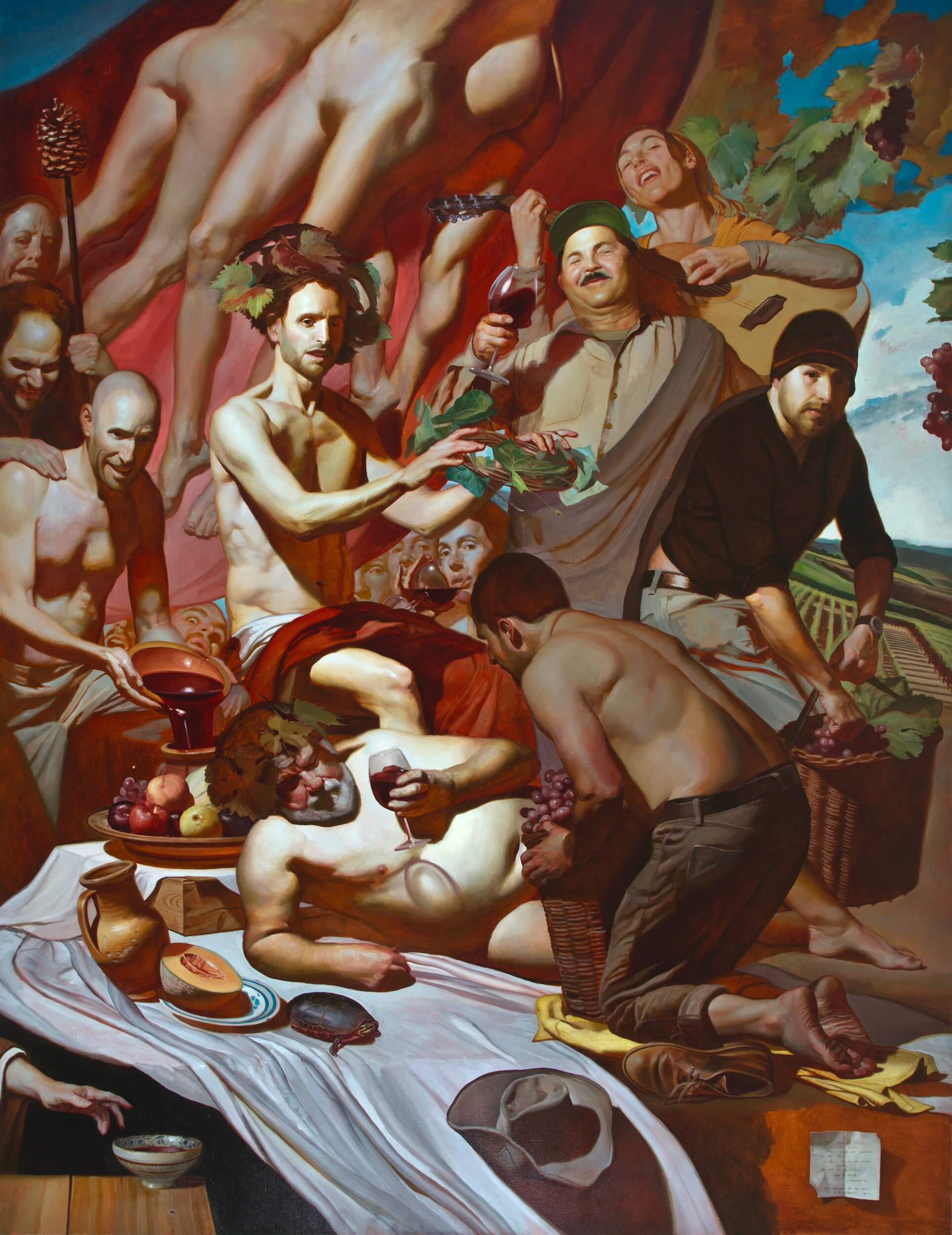 Noah Buchanan, Triumph of Bacchus, 80 x 62, oil on canvas (courtesy of Dacia Gallery)