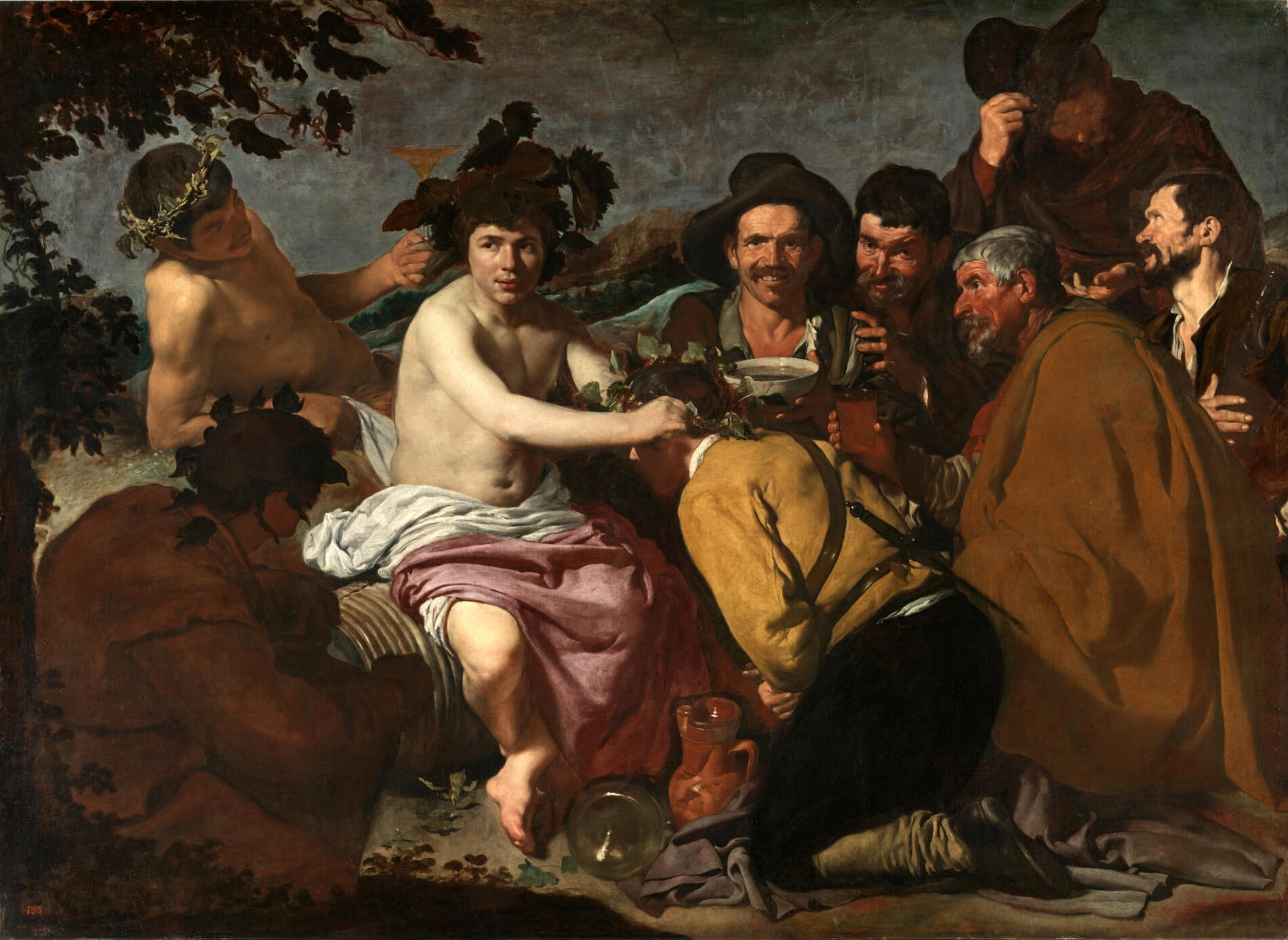 Diego Velázquez, The Triumph of Bacchus, 1628-1629, oil on canvas, 65 in × 89 inches, (Museo del Prado, Madrid)