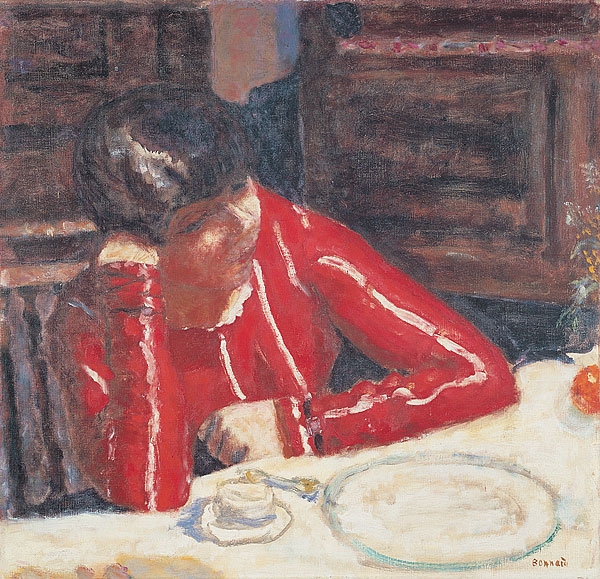 Pierre Bonnard, The Red Blouse, 1925 (Musée national d'art moderne, Paris)