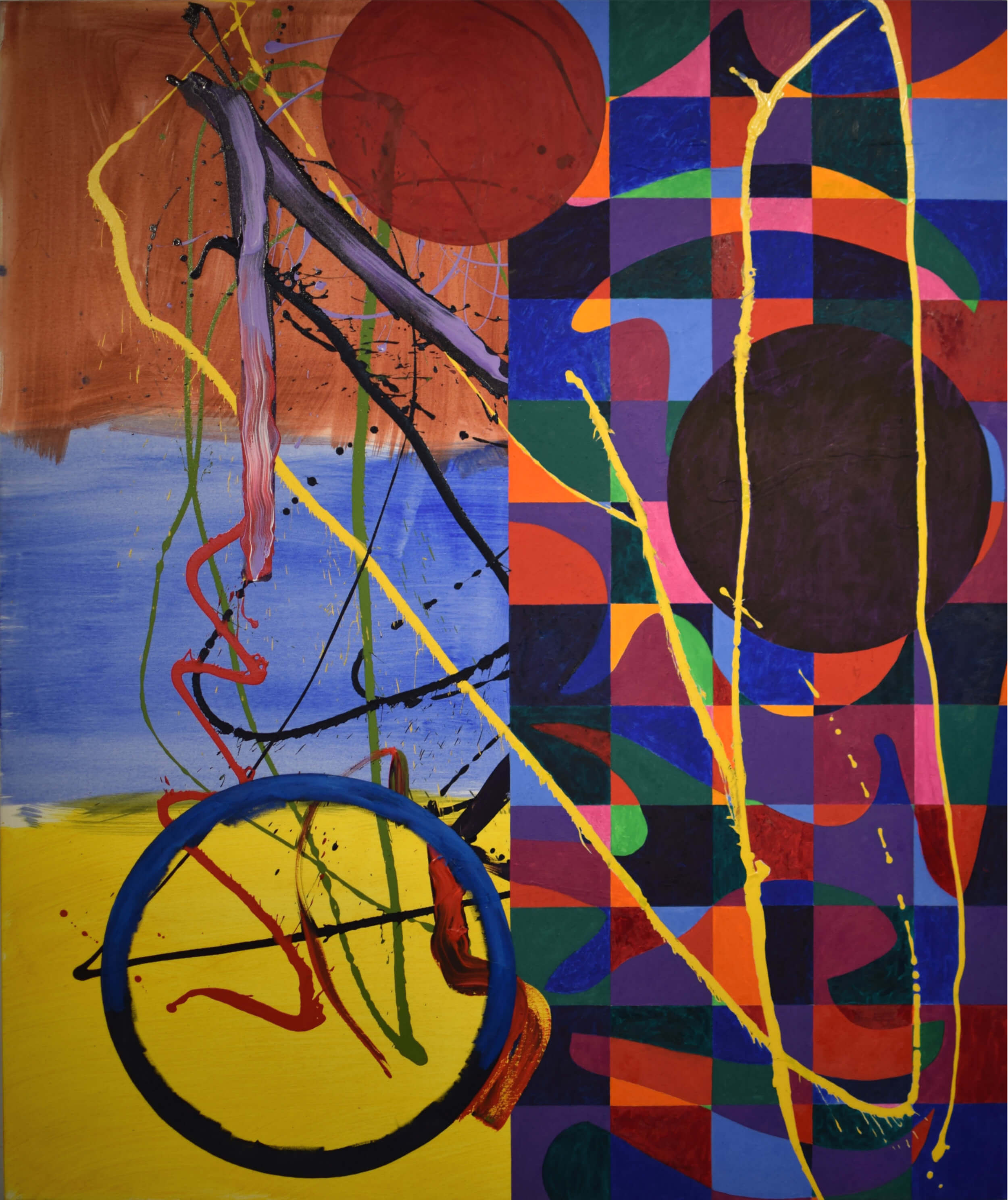 Dana Gordon, Coming To, 2015-16, 72 x 60 inches, oil and acrylic on canvas (courtesy of the artist)