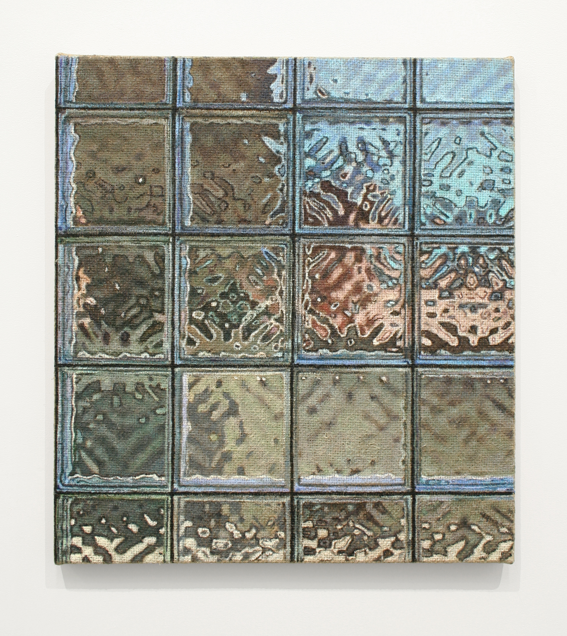 Jennifer J. Lee, Window III, 2018, oil on jute, 21 x 19 inches (courtesy of the artist and Klaus von Nichtssagend Gallery, NY)