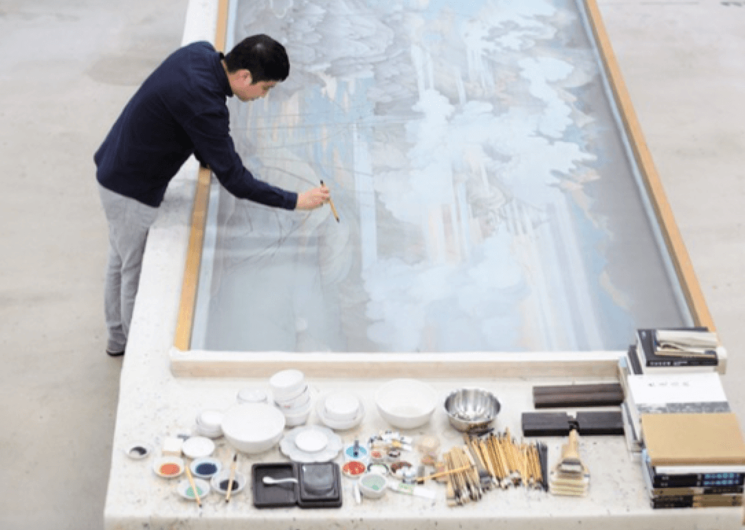 Back to the Future: Hao Liang at Gagosian