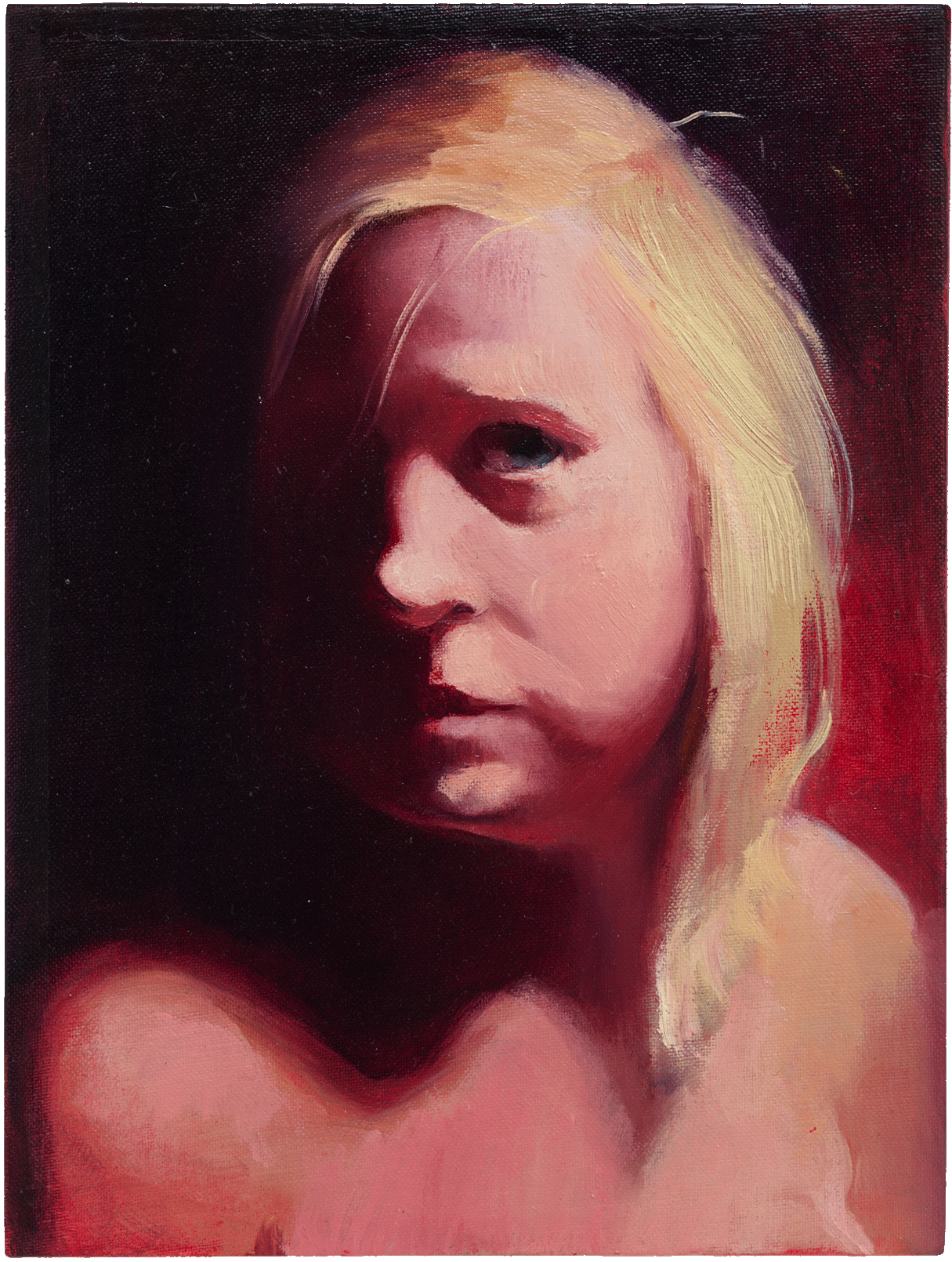Lisa Yuskavage, KK, 1998, oil on canvas board, 9 1/2 x 7 inches (courtesy of David Zwirner Gallery)
