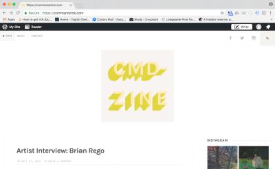 command-zine art blog