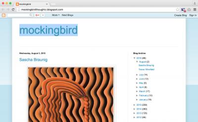 Mockingbird art blog by Steve Gibson