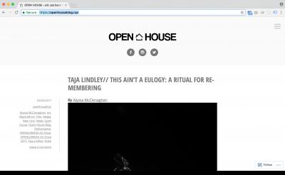 Open House blog