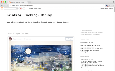 Painting, Smoking, Eating