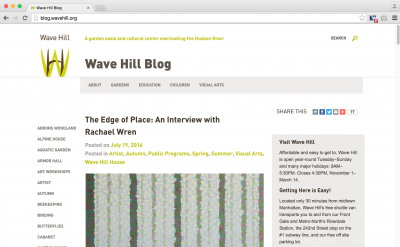 Wave Hill Blog