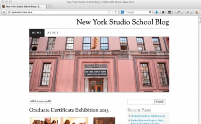 New York Studio School blog