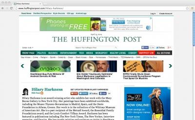 Hilary Harkness: Huffington Post Arts
