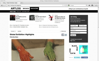 Artlog Magazine Art Blog