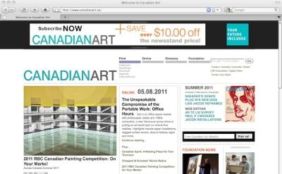 Canadian Art Magazine online