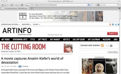 Cutting Room Art Film blog