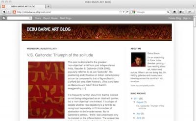 Debu Barve Art Blog