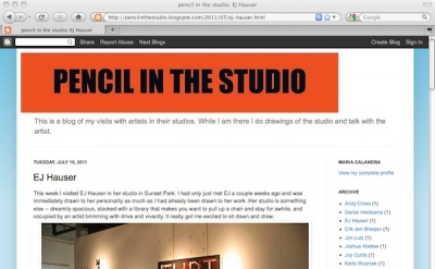 Pencil in the Studio Art Blog