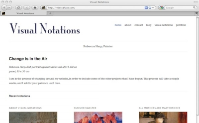 Visual Notations blog by Rebecca Harp