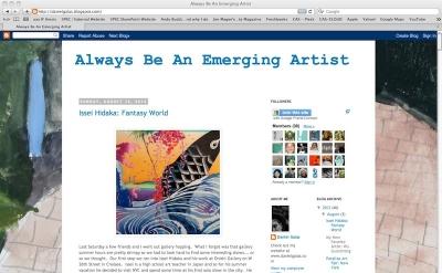 Always Be an Emerging Artist art blog