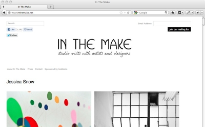 In the Make art blog