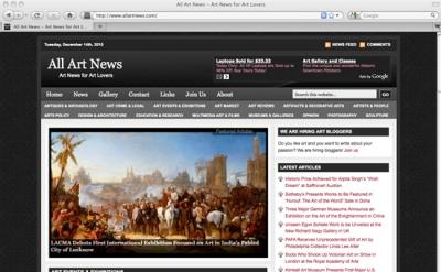 All Art News website