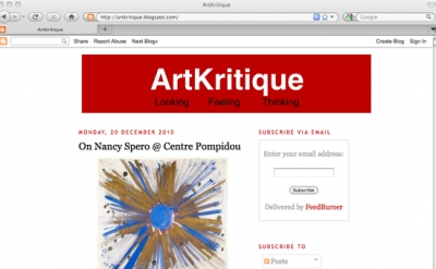 ArtKritique art blog