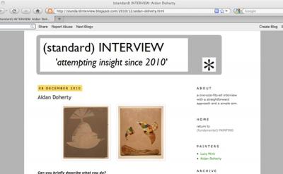 standard interview art blog