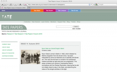 Tate Papers online journal