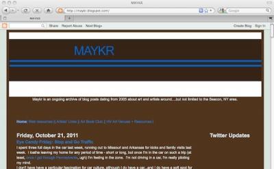 MAYKR art blog by Christopher Albert