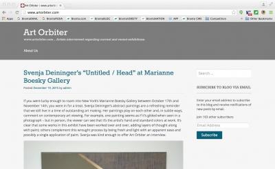 Art Orbiter art blog