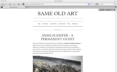 Same Old Art blog