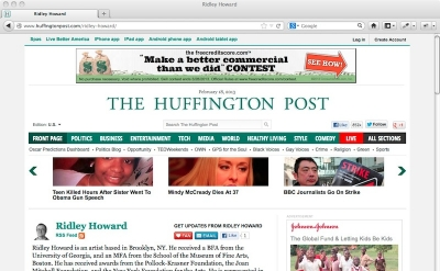 Ridley Howard: Huffington Post