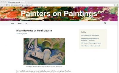 Painters on Painting art blog