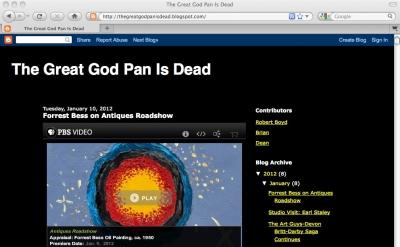 Great God Pan is Dead art blog